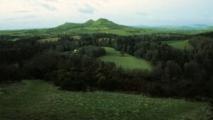 Image of a view of the Eildon Hills in the Scottish Borders